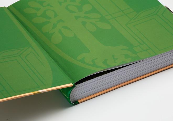 Chronik Gemeinde Buchbrunn Umschlag mit Vorsatzpapier