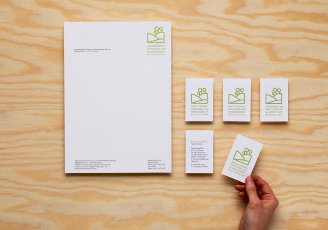 Geschäftsausstattung Briefpapier und Visitenkarte