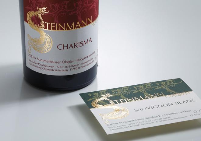 Bordeaux- und Burgunderetiketten Gold-Prägedruck