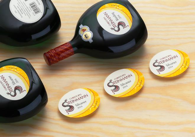 Bocksbeuteletiketten Silvaner und Riesling