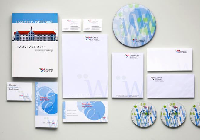 Corporate Design Landkreis Würzburg